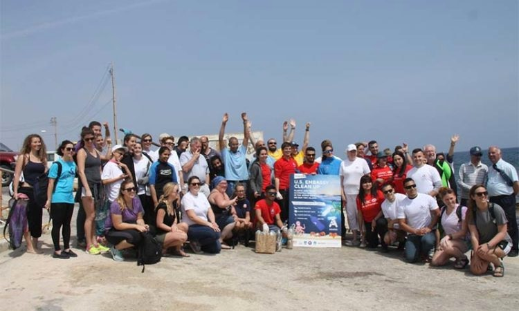 Earth Day cleanup collects waste at Armier Bay