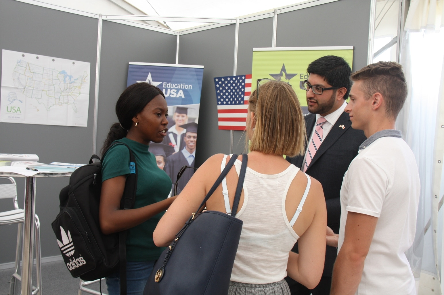 U s embassy participates at freshers 39 week at the for Consulate jobs
